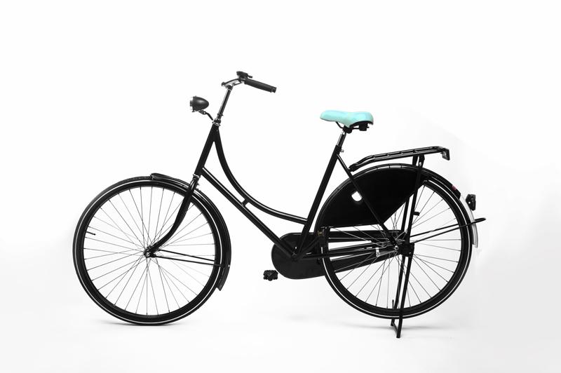 Mint fietszadel van Heer Zadel op de fiets