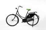Groen fietszadel op de fiets