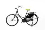 Lichtgroen fietszadel op de fiets