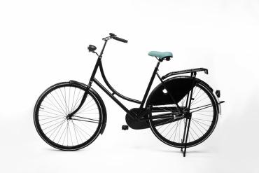 Mint fietszadel op de fiets
