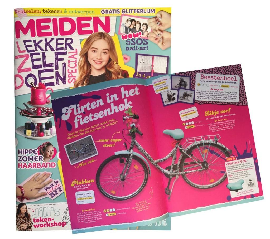 Pimp je eigen fiets! Heer Zadel in de 'MEIDEN Lekker zelf doen Special'.