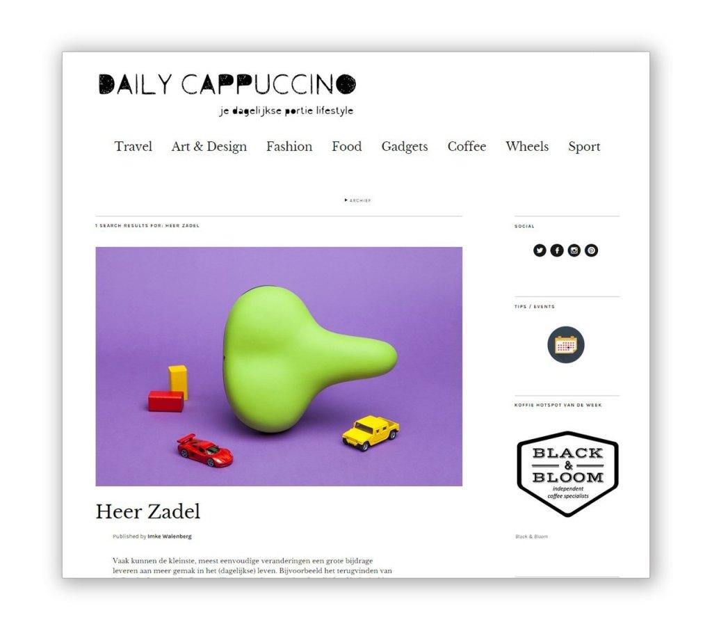 Dailycappuccino.nl over Heer Zadel